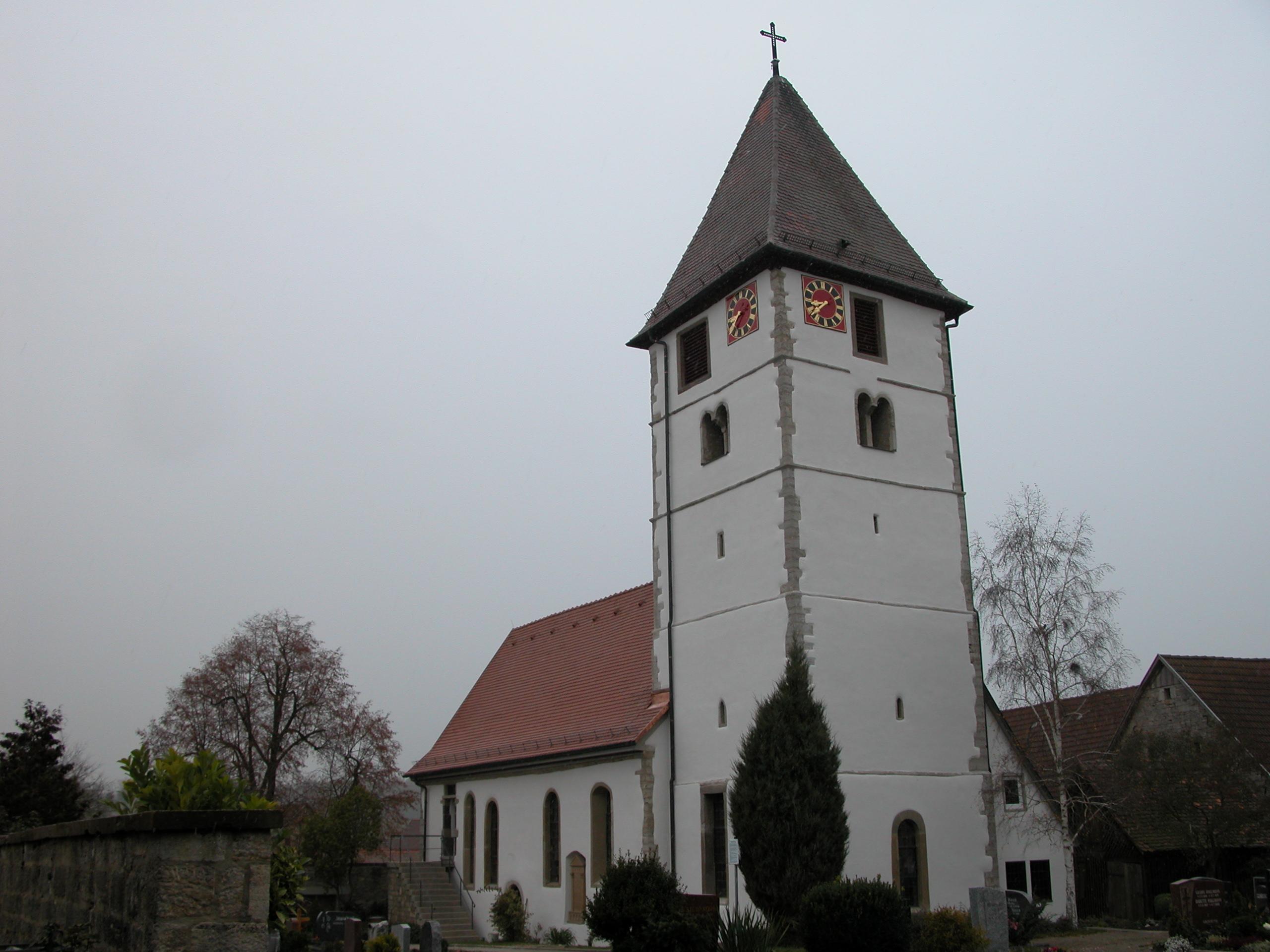 Evangelische Kirche in Niederstetten-Rinderfeld Außensanierung