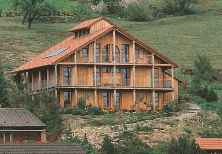 Baubiologisches Zweifamilien-Wohnhaus 1991